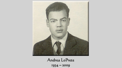 Andrea was many things: A husband, a brother, a father, an uncle, a  father-in-law, a carpenter, a grandfather. And the best aspects of these  roles live on ...